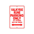 HONDA VALKYRIE RUNE Parking Only Towed Motorcycle Bike Chopper Aluminum Sign