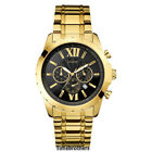 NEW GUESS WATCH for Men * Chronograph Black w/Gold Tone Stainless Steel U0193G1