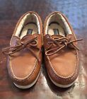 Light Brown Leather Sperry Top Sider Fur Lined Mens Size 7
