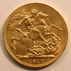 SCARCE 1911 C Gold Sovereign - King George V - UNC - Ottawa, Canada Mint