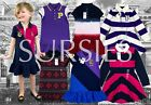 POLO RALPH LAUREN DRESS Girls Polo Dress CREST RUGBY STRIPE PATCH WORK All Sizes
