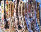 Lot 40 25 Strips Mixed Colors Strips Jelly Roll Binding Cotton Quilt Fabric