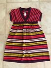 Tea Collection Girls 5 Bright Striped Sweater Dress NWT purple pink orange