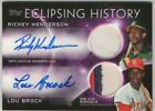 2015 Topps Eclipsing History Rickey Henderson Lou Brock 3 Clr Relics Auto 1 10