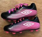 Girls Umbro Soccer Cleats Pink Black Size 10K Youth