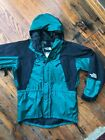 VTG 90s North Face Large GORE TEX Shell Hooded Jacket Green