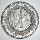 SAP POLYNE PARIS France Metal Plate Dish Vintage Pin Tray Ashtray Coaster 1989