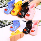 Baby Toddler Girls Cute Rain Boots Shoes Bow Soft Rubber Shoes Kids Jelly US HOT