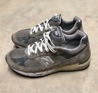 EUC New Balance 991 Womens US 85 B Grey Suede Running Shoes W991GR 220