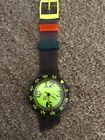Swatch Watch Green Face Scuba 200 With Box Need Band