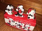 FITZ AND FLOYD KITTY CLAUS TUMBLERS FIGURINES USED TWICE
