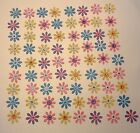 Floral Punchies 60+ Pieces Rhinestone Center 2 Layer Glitter Cardstock