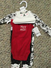 NWT Carters Girls 4 Pc Merry  Bright Layette Set CHRISTMAS Outfit Newborn
