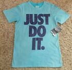 Nike Boys T Shirt Youth Just Do It Tee Size Xlarge XL Blue Top Great Gift sport