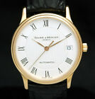 BAUME & MERCIER Classima Executive SOLID 18K ROSE GOLD AUTOMATIC MEN WATCH 65637