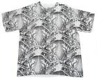 vtg 90S MC ESCHER HOUSE OF STAIRS ABSTRACT ART ALL OVER PRINT T SHIRT XL supreme