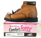 RED WING 981 Brown Leather Lace Soft Toe Ankle Collar Work Hiking Boot Men 9 B