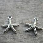 35pcs Starfish Charms silver tone Starfish Charm Pendant 21x20mm