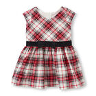 NWT The Childrens Place BOW Party DRESS 4T 4 Holiday Classic Christmas colors