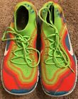 Mens Nike Free Flyknit Rainbow Running Shoes 615805 316 Size 11 Great Condition