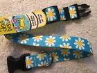 Blue Daisy Adjustable Size Medium Dog Collar 14 20 by Yellow Dog Design