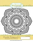 Taylored Expressions Cling Mounted Rubber Stamp Mandala Background 2