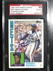 1984 Topps Traded TIFFANY Dwight Gooden Autographed SGC 8 9 Rare Find!
