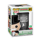 Funko Pop Board Games Silver Mr. Monopoly #01 Shop Exclusive 12 days Christmas