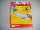 MAVERICK  HOLE PUNCHED    WILLIAMS   PINBALL  ARCADE GAME  FLYER