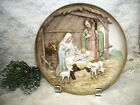 Beautiful 3 D Nativity Plate Mary Joseph and Baby Jesus