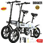 14 Folding Electric Bike Collapsible Moped Bicycle With LED Headlight LCD USB