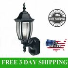 Outdoor Black Wall Light Exterior Sconce Lantern Outlet Fixture Patio Porch NEW