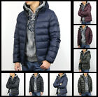 New Abercrombie AF by Hollister Men Lightweight Hooded Puffer Jacket Coat Size