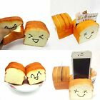 Cute Jumbo Toast Squishy Soft Slice Card Cell Phone Bread Hand Vent Holder Toys