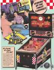 Williams DINER 1990 Original NOS Flipper Game Pinball Machine Promo Sales Flyer