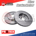 Pair Front Protex Disc Brake Rotors For LEXUS RX350 RX450H TOYOTA Kluger GSU4 GS