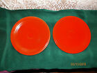PAIR OF VINTAGE FIESTA RED LUNCHEON PLATES