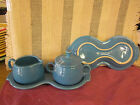 Fiesta Fiestaware PeaCock Sugar Creamer Tray Set  - Discontinued 1st Q