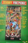 Johnny Mnemonic Shot Map Pinball Poster