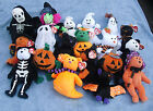 w-f-l Ty Beanie Halloween Stuffed Toy Selection Mind Vampire Pumpkin Spider Cat