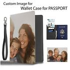 Custom your Image Photo Personalize Cover Wallet Travel Document Passport Holder