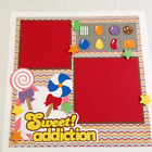 Sweet Addiction Candy Crush Super Fun Premade Scrapbook Layout Single Page 12x12