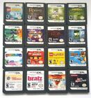 Authentic Nintendo DS Games Play on DSl Dsi XL 3Ds 2DS Great Variety Lot Fun