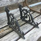 Lot 2 Cast Iron Antique Style Brackets Garden Braces Rustic Shelf Bracket Black