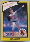1990 Starting Lineup 89 ROY Jim Abbott Angels Baseball Card