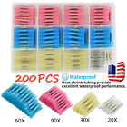 240Pc Waterproof Heat Shrink Ring Butt Wire Connector Solder Seal Crimp Terminal