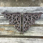 2PCS Cast Iron Antique Style Star Brackets, Garden Braces Shelf Bracket RETRO