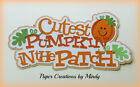 CRAFTECAFE MINDY CUTEST PUMPKIN FALL premade paper piecing TITLE scrapbook page