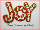 CRAFTECAFE MINDY CHRISTMAS JOY premade paper piecing TITLE scrapbook page DIECUT