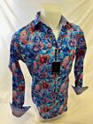 Mens PREMIERE Long Sleeve Button Down Dress Shirt COLORFUL PAISLEY UNTUCKED 103
